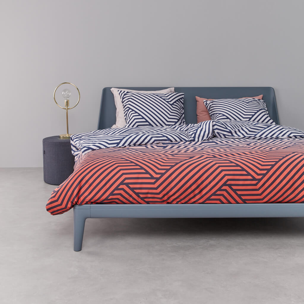 Calculus duvet cover Blue bed