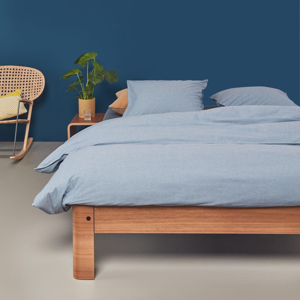 Bancroft duvet cover blue bed
