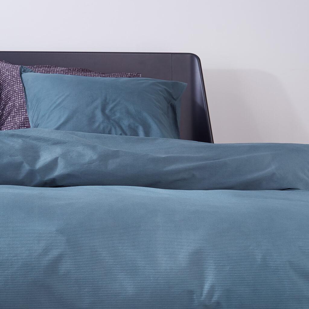 Phoebe dekbedovertrek blue Detail