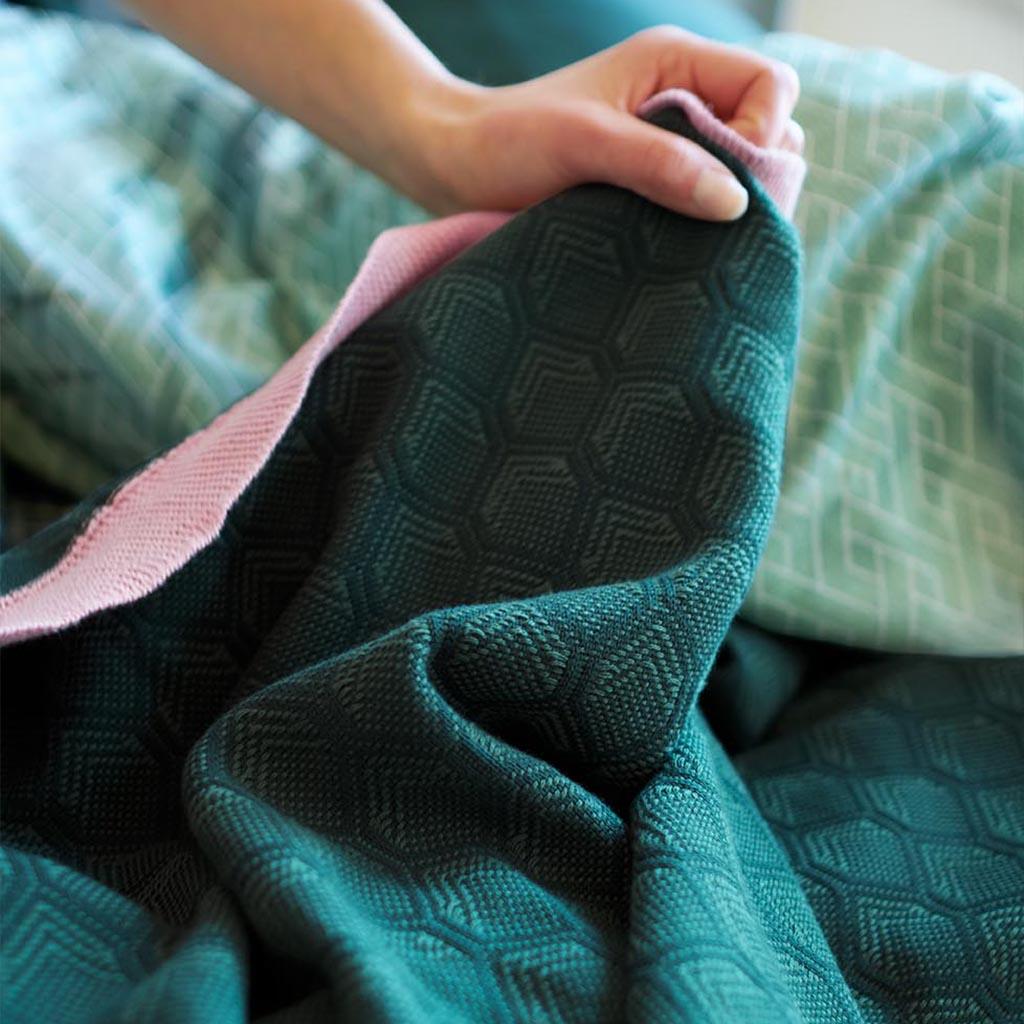 Adonis bedspread Green folded