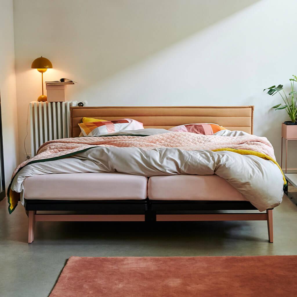 Amon Ra bedspread Yellow folded